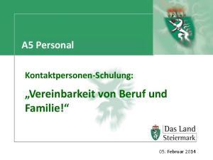 Vereinbarkeit von Beruf und Familie!