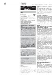Vereine. Turnverein Echterdingen 1892