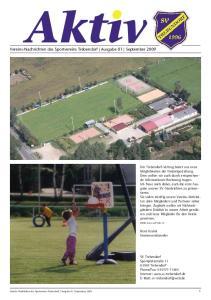 Vereins-Nachrichten des Sportvereins Trebendorf Ausgabe 01 September 2009