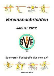 Vereinsnachrichten Januar 2012