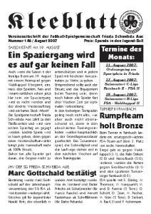 Vereinszeitschrift der Fußball-Spielgemeinschaft Frieda Schwebda Aue