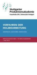 VERFAHREN DER HOLZBEARBEITUNG ZERSPANUNG, EMISSIONEN, MESSTECHNIK