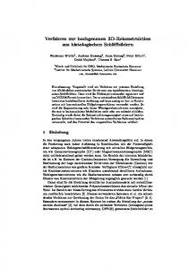 Verfahren zur hochgenauen 3D-Rekonstruktion aus histologischen Schliffbildern
