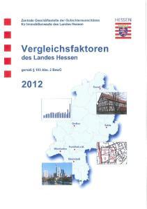 Vergleichsfaktoren des Landes Hessen