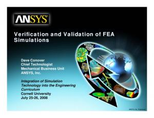 Verification and Validation of FEA Simulations