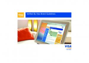 Verified By Visa Brand Guidelines