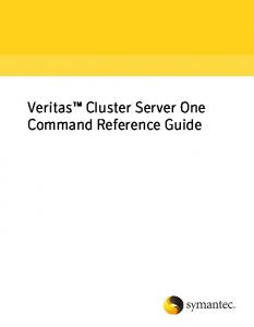 Veritas Cluster Server One Command Reference Guide