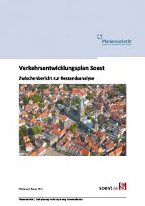 Verkehrsentwicklungsplan Soest