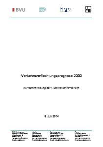 Verkehrsverflechtungsprognose 2030