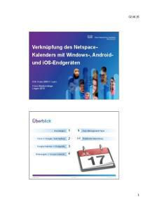 Verknüpfung des Netspace- Kalenders mit Windows-, Android- und ios-endgeräten