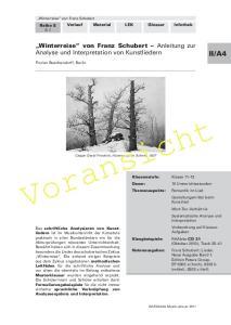 Verlauf Material LEK Glossar Infothek. Winterreise von Franz Schubert Anleitung zur Analyse und Interpretation von Kunstliedern