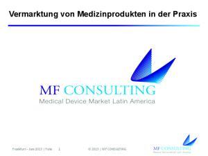Vermarktung von Medizinprodukten in der Praxis