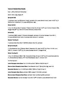 Vermont Holstein Show Results