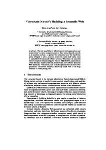 Vernetzte Kirche : Building a Semantic Web