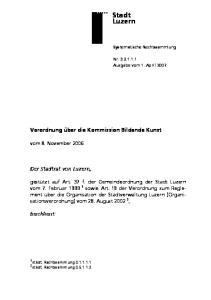 Verordnung über die Kommission Bildende Kunst