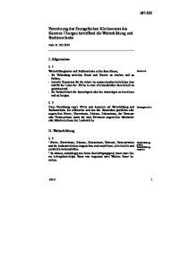 Verordnung des Evangelischen Kirchenrates des Kantons Thurgau betreffend die Weiterbildung und Studienurlaube