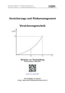 Versicherungs-und Risikomanagement. Versicherungstechnik