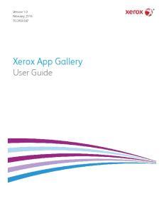 Version 1.0 February P Xerox App Gallery User Guide