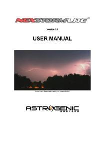Version 1.3 USER MANUAL