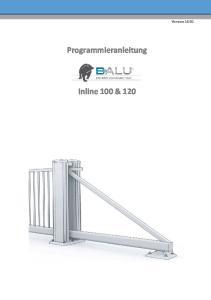 Version Programmieranleitung. Inline 100 & 120