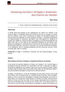 Versoening met God in 30 Nagte in Amsterdam deur Etienne van Heerden