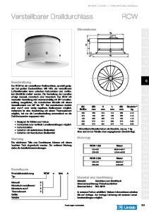 Verstellbarer Dralldurchlass