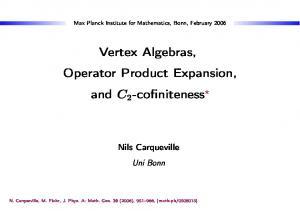 Vertex Algebras, Operator Product Expansion, and C 2 -cofiniteness