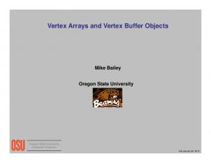 Vertex Arrays and Vertex Buffer Objects