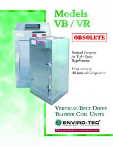 VERTICAL BELT DRIVE BLOWER COIL UNITS