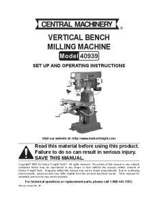 Vertical Bench Milling Machine