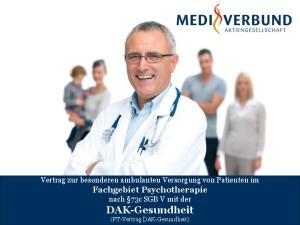 Vertrag zur besonderen ambulanten Versorgung von Patienten im Fachgebiet Psychotherapie nach 73c SGB V mit der DAK-Gesundheit (PT-Vertrag