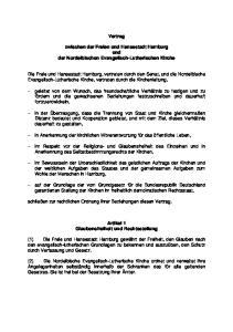Vertrag. zwischen der Freien und Hansestadt Hamburg und der Nordelbischen Evangelisch-Lutherischen Kirche