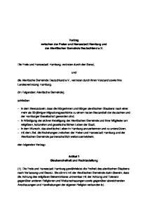 Vertrag zwischen der Freien und Hansestadt Hamburg und der Alevitischen Gemeinde Deutschland e.v. und