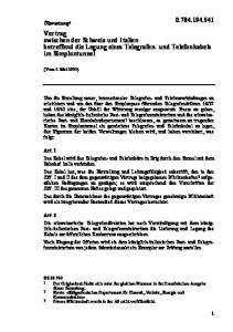 Vertrag zwischen der Schweiz und Italien betreffend die Legung eines Telegrafen- und Telefonkabels im Simplontunnel