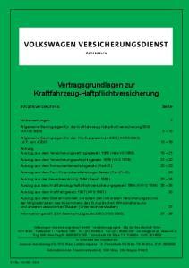 Vertragsgrundlagen zur Kraftfahrzeug-Haftpflichtversicherung