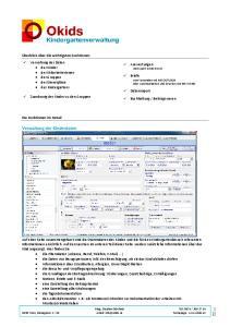 Verwaltung der Kinderdaten