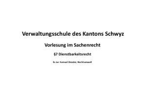 Verwaltungsschule des Kantons Schwyz