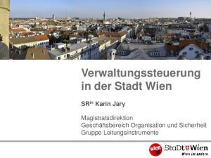 Verwaltungssteuerung in der Stadt Wien