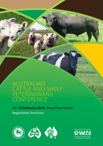 Veterinarians Conference February 2015, Wrest Point Hobart Registration brochure