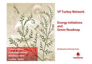 VF Turkey Network. Energy Initiatives and Green Roadmap. Vodafone Turkey Technology Network 06 February 2010 Istanbul - Turkey