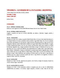 VFLMDLPA - LO MEJOR DE LA PATAGONIA ARGENTINA