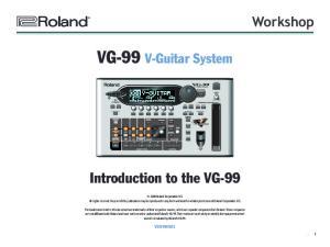 VG-99 V-Guitar System
