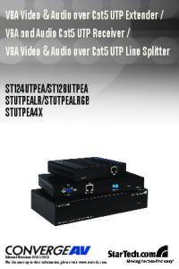 VGA Video & Audio over Cat5 UTP Line Splitter