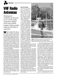 VHF Radio Antennas. Without the right VHF radio antenna,