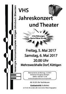 VHS Jahreskonzert und Theater