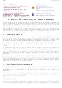 VI. ANALISIS DEL RIESGO EN LA EVALUACION DE PROYECTOS