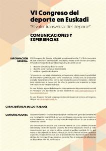 VI Congreso del deporte en Euskadi