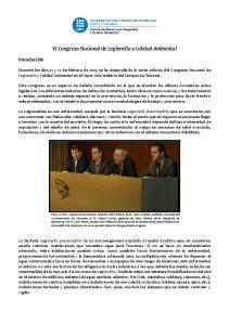 VI Congreso Nacional de Legionella y Calidad Ambiental
