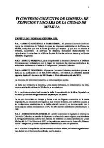 VI CONVENIO COLECTIVO DE LIMPIEZA DE EDIFICIOS Y LOCALES DE LA CIUDAD DE MELILLA