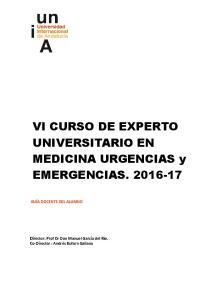 VI CURSO DE EXPERTO UNIVERSITARIO EN MEDICINA URGENCIAS y EMERGENCIAS